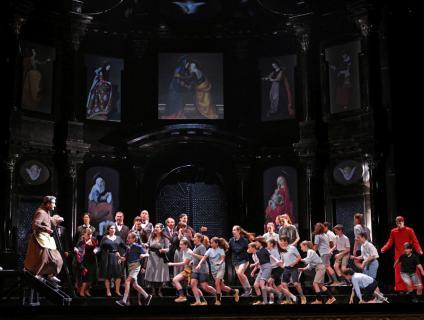 """Imatge de l'escenografia de """"Tosca"""" al Liceu"""