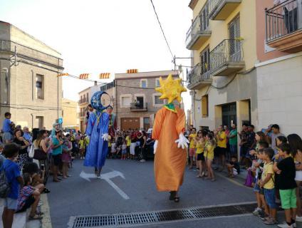 Els gegantons del Catesplai a la plaça Jacint Verdaguer