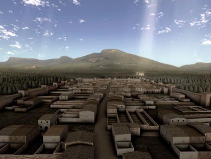 El poble, a l'edat Mitjana, encara emmurallat