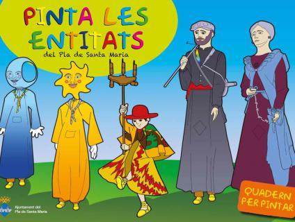 """Portada del quadern """"Pinta les entitats del Pla de Santa Maria"""""""