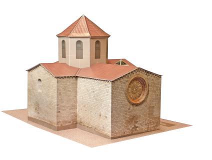 Vista posterior de la maqueta retallable de l'església