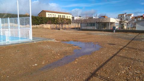 La plataforma es construirà entre la pista descoberta i la llar d'infants