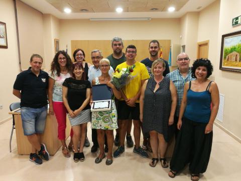 En el Ple es va homenatjar Asun García, amb motiu de la seva jubilació