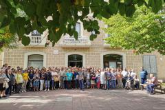 Concentració de protesta a la Plaça de la Vila