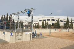La depuradora del Pla es troba situada al Polígon Industrial