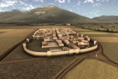 Recreació de la vila emmurallada de Santa Maria del Pla